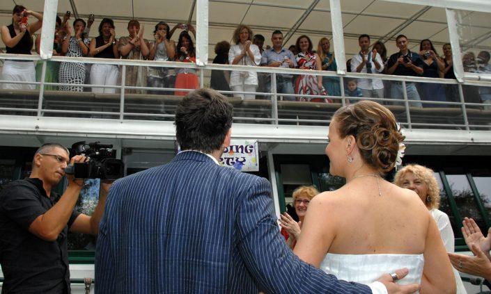venčanje na reci, svadba na brodu
